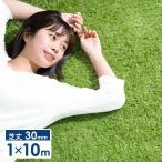 人工芝 ロール リアル人工芝 芝生 ロールタイプ 1m×10m 芝丈30mm おしゃれ 芝生マット