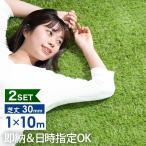 人工芝 ロール リアル人工芝 2個セット 芝生 1m×10m 芝丈30mm diy 庭 10m 人工 芝 芝生マット ベランダ ガーデン