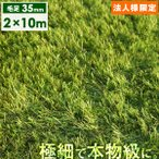 人工芝 ロール リアル U字ピン 48本セット 夏色 春色 選べる2カラー 2m×10m 毛足35mm 10m セット リアル人工芝 芝生