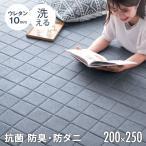 ラグ 夏用 ラグマット 洗える キルトラグ 3畳 カーペット おしゃれ 長方形 200×250 綿100% マット 夏用ラグ