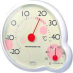 クレセル 4955286807118 ripple(リップル) 温度計・湿度計 壁掛け・卓上両用 CR-140Y イエロー