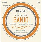 DADDARIO 0019954910846 【10個セット】D'Addario / Banjo Nickel EJ61 (J61) Medium 10-23 5-Strings ダダリオ バンジョー弦