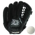 ds-2202504 軟式野球グローブ一般用 左利き用 ブラック 12インチ&M号公認球セット【代引不可】 (ds2202504)