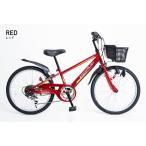 21Technology 4562320210706 22インチ子供マウンテンバイク(6段変速付き) (KD226-レッド)