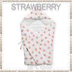 BORNYプレミアム strawberry 2重ガーゼ おくるみ 肌に優しい綿100% 出産祝い ギフト おくるみ