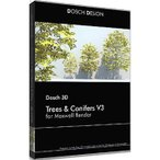 DOSCH DESIGN D3D-TC3-MR DOSCH 3D: Trees & Conifers for Maxwell Render (D3DTC3MR)