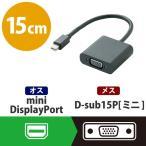 Mini DispLayPort変換アダプタ forAPPLE VGA ブラック 1コ入