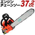 チェーンソー 小型 エンジン チェンソー 37.2cc コンパクトタイプ ガイドバー 工具付