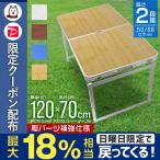 アルミテーブル 幅120cm 2段階 高さ調節 テーブル 折りたたみ レジャーテーブル ピクニックテーブル アウトドア