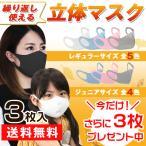 期間限定 もう1セットプレゼント 立体マスク 3枚セット 繰り返し使える 子供 大人 速乾 夏 秋 抗菌 防臭 小顔 フィット 朝9時までの注文は当日出荷 予24