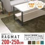 ラグ ラグマット 洗える マット カーペット 北欧 夏用 約 3畳 200×250cm ホットカーペット対応 床暖房対応 Lサイズ