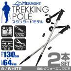 ショッピング登山 トレッキングポール 2本セット I型 ステッキ ストック 軽量アルミ製 登山用杖 シルバー (予約販売/10月下旬再入荷)