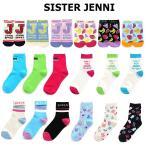 4足から送料無料 靴下 キッズ 女の子 SISTER JENNI シスタージェニィ 18柄ショート&クルーソックス 19cm-24cm