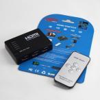 HDMI切替器 HDMIセレクター 入力5端子 出力1端子 5HDMI to 1HDMI 1080p 無線リモコン付き