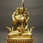 【仏像】金剛薩た(金剛薩タ) 鍍金・彫金仕上げ 24cm【送料無料】