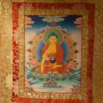【仏画(タンカ)】釈迦如来 仏像 仏画【送料無料】