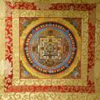 【仏画(タンカ)】カーラチャクラ曼荼羅 軸装 仏像 仏画【送料無料】