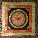 【仏画(タンカ)】オンマニペメフム 軸装 仏像 仏画【送料無料】