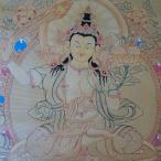 【仏画(タンカ)】文殊菩薩 仏像 24金使用 仏画【送料無料】