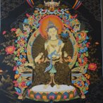 【仏画(タンカ)】弥勒菩薩 24金使用 仏像 仏画【送料無料】