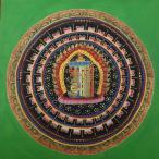 【仏画(タンカ)】カーラチャクラ種字曼荼羅 緑 仏像 仏画
