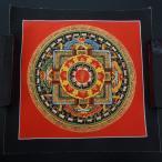 【仏画(タンカ)】オン字曼荼羅 赤色 仏像 仏画