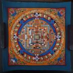 【仏画(タンカ)】カーラチャクラ曼荼羅 橙 仏像 仏画