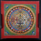 【仏画(タンカ)】カーラチャクラ曼荼羅 赤 仏像 仏画