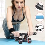 腹筋ローラー 筋トレ ダイエット器具 マシン アブ ローラー アブホイール マット付き 静音 腹筋トレーニング 男女兼用