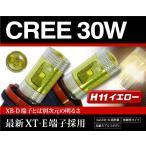 E25系キャラバン後期 フォグランプ CREE XT-E LED 30W H11 黄色