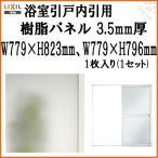 浴室引戸内引用樹脂パネル 16-17 3.5mm厚 W779×H823mm1枚、W779×H796mm1枚入り(1セット) 梨地柄 LIXIL/TOSTEM