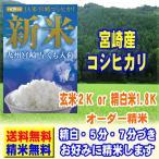 29年産 新米 100% 宮崎産 コシヒカリ 2kg 28年産 送料無料 玄米 白米 7分づき 5分づき 3分づき つきたて米