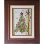 【1点限り】ハンドメイド押し花絵『クリスマスツリー』