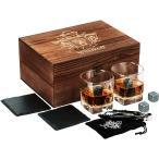 ウイスキーグラスセットギフトボックスウイスキーストーンギフトスコッチバーボングラス冷却用ストーンギフトセットウイスキー愛好家の..