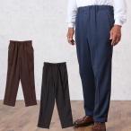 紳士 グレンチェック柄あったか裏起毛パンツ(シニアファッション 60代 70代 80代 メンズシニア 男性 紳士服 お年寄り高齢者)