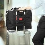 Yahoo!TCセレクト旅行かばん 軽量 防水 大容量 折り畳み 黒 新品 トランク 収納バッグ スーツケース 機内持ち込み 大型 ポケット 最大 送料無料