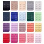 ブラジャー延長ホック 2段ワイド 選べる20色 ブラエクステンダー アンダーサイズアップ