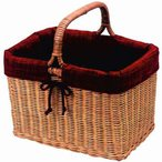 Fabric MadeInJapan 籐製 ラタンバスケット 64-41RE レッド