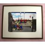 復刻版浮世絵 歌川広重「東海道五十三次 日本橋」 額入り 日本製 ティータイムギフト 安藤広重