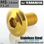 ブレーキディスク ローターボルト M8×15mm P1.25 ヤマハ用 トライアングルヘッド 車/バイク ゴールドカラー 1個 TD0093
