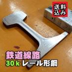 鉄道 線路 30kg レール材(中古) マニアコレクション 長さ:10mm (クロネコDM便・送料込み・代引き不可・日時指定不可)