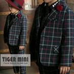 韓国子供服 TIGERMINI スタイリッシュチェックスーツ4点セット(七五三, フォーマル) 100/110/120/130cm