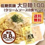 麺類 ソイヌードル 低糖質 大豆麺 100& パスタソース 8食セット 糖質制限 ヌードル 食品 夜食 置き換え 糖類カット 半生麺