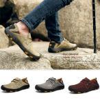 トレッキングシューズ メンズ ランニングシューズ スニーカー ローカット ウォーキングシューズ レザー アウトドア 靴 登山靴 軽量 幅広 4E 大きいサイズ
