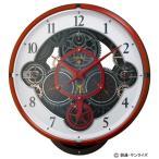 [割引クーポンあり]リズム時計工業 4MN534MG01 ガンダム電波カラクリ掛時計 シャア専用モデル