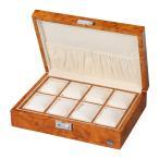 [200円割引クーポンあり]木製時計8本収納ケース 濃木目 ダークブラウン LUHW (ローテンシュラガー) LU51010RW