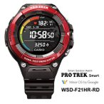 (予約特典あり)(9/13発売予定) PROTREK Smart (Smart Outdoor Watch / スマートアウトドアウオッチ) 心拍計搭載 レッド カシオ計算機(CASIO) WSD-F21HR-RD