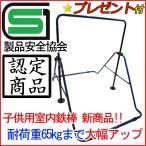 スーパー鉄棒65 子供用鉄棒屋内・室内 耐荷重65kg SGマーク付き FM-1544 屋外利用可 ブルー/ブラック