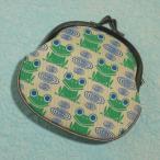 がま口財布 レディース / 和柄 / 帆布製 かえる