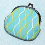 がま口財布 レディース/和柄/帆布製 全25柄 メール便OK 立涌(たてわく) 水色